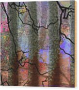 Squiggles And Lines Wood Print