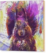 Squirrel Animals Possierlich Nager  Wood Print