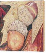 Squirrel Food Wood Print