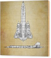 Sr-71 Blackbird Wood Print