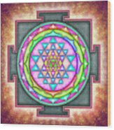 Sri Yantra - Artwork 7.3 Wood Print