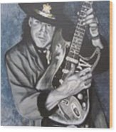 Srv - Stevie Ray Vaughan  Wood Print