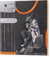 Srv - Stevie Ray Vaughn Wood Print