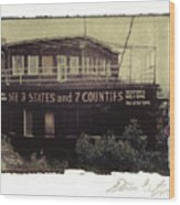 S.s. Grand View Hotel...ship Of The Alleghenies Prow Wood Print