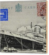 Ss United States - Post Card Wood Print