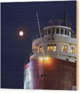 Ss William A Irvin At Night Wood Print
