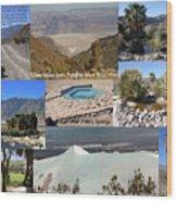 Saline Valley Collage Wood Print