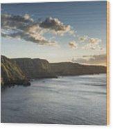 St Abbs Sunset Wood Print
