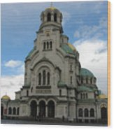 St Alexander Nevski Cathedral In Sofiq Wood Print