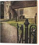 St Andrews At Chaddleworth Berkshire Wood Print