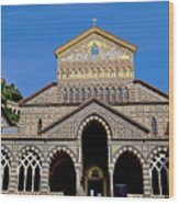St Andrews Cathedral In Amalfi Wood Print