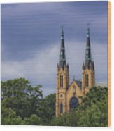 St Andrews Catholic Church Roanoke Virginia Wood Print