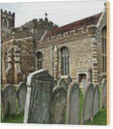 Church Of All Saints, Houghton Conquest, Uk Wood Print