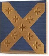 St. Andrew's Cross Wood Print