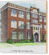St. Anthony's High School Wood Print