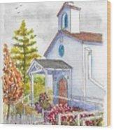 St. Anthony's Catholic Church, Mendocino, California Wood Print