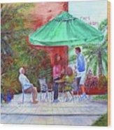 St. Armand's Circle Cafe Scene Wood Print