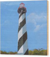 St Augusstine Lighthouse Wood Print
