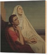 St Augustine And His Mother St Monica Wood Print