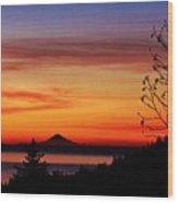 St Augustine At Sunset Wood Print
