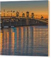 St Augustine Bridge Of Lions Sunset Dsc00433_16 Wood Print