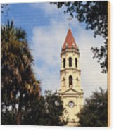 St Augustine Cathedral Wood Print