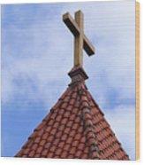 St. Augustine Cross 2 090118 Wood Print