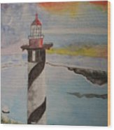 St. Augustine Fl  Lighthouse Wood Print