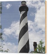 St Augustine Florida Light Wood Print