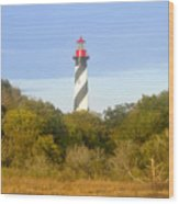 St. Augustine Light House Wood Print