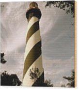 St. Augustine Light House Wood Print