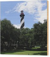 St. Augustine Light In Florida Wood Print