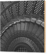 St. Augustine Lighthouse Spiral Staircase I Wood Print