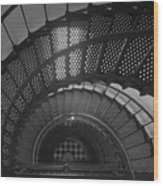 St. Augustine Lighthouse Spiral Staircase II Wood Print