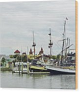 St Augustine Marina From The Water Wood Print
