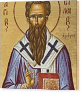 St Basil The Great Wood Print by Julia Bridget Hayes