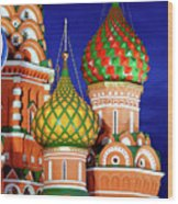 St Basils Cathedral In Moscow Russia Wood Print