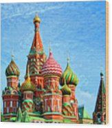 St. Basil's Cathedral Moscow Wood Print