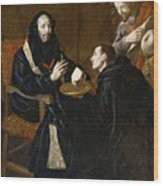 St Benedict Blesses The Bread Wood Print