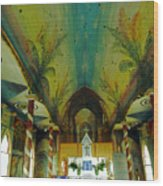 St Benedicts Painted Church 6 Wood Print
