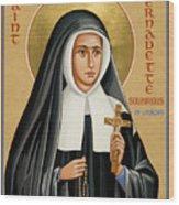 St. Bernadette Of Lourdes - Jcbsl Wood Print