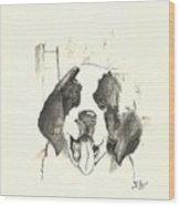 St. Bernard  Puppy Wood Print