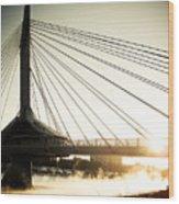 St. Boniface Bridge At Winter Sunrise Wood Print