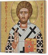 St. Boniface Of Germany - Jcbon Wood Print