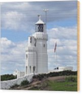 St. Catherine's Lighthouse On The Isle Of Wight Wood Print