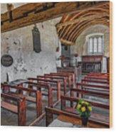 St Celynnin Church  Interior Wood Print