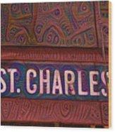 St Charles Line Wood Print
