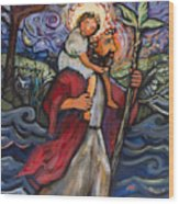 St. Christopher Wood Print