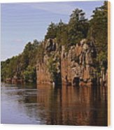 St Croix River View Wood Print