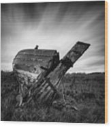 St Cyrus Wreck Wood Print